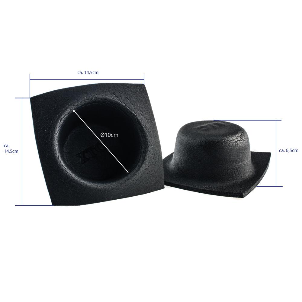 kfz lautsprecher schutz geh use flach 10cm d mmung. Black Bedroom Furniture Sets. Home Design Ideas